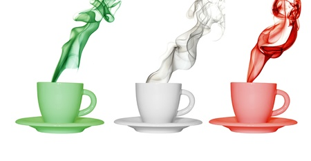 italia: cups with the colors of italy