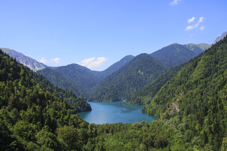 Beautiful panorama Lake Riza Imagens