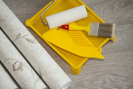 Wallpaper and accessories for glue wallpaper
