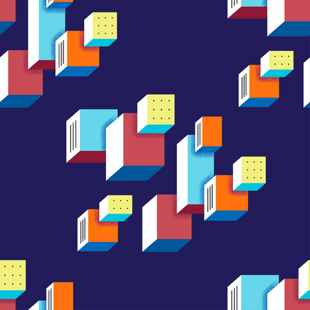 Seamless trendy pattern in the style of Bauhaus