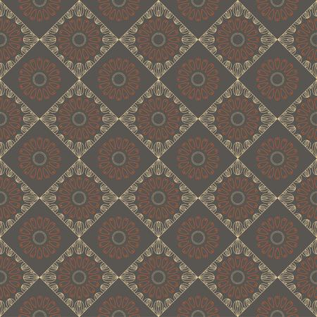 Ethnic vintage abstract seamless geometric  pattern 스톡 콘텐츠