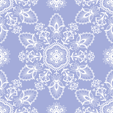 Abstract round ethnic seamless pattern on white lines