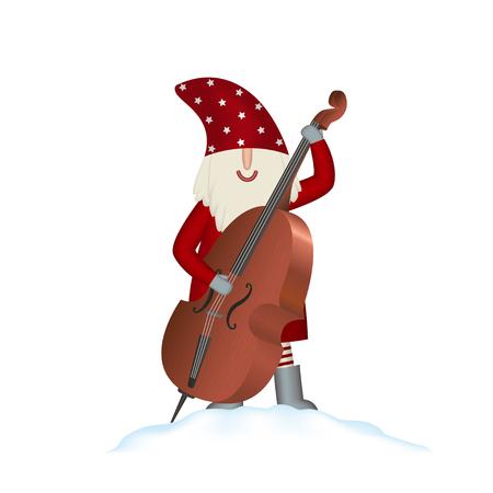 Christmas vector card Santa Claus on white