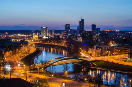 vilnius: Vilnius, Lithuania in the sunset