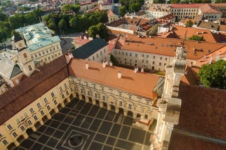 Lithuania  Vilnius Old Town in the summer  Vilnius University Stok Fotoğraf