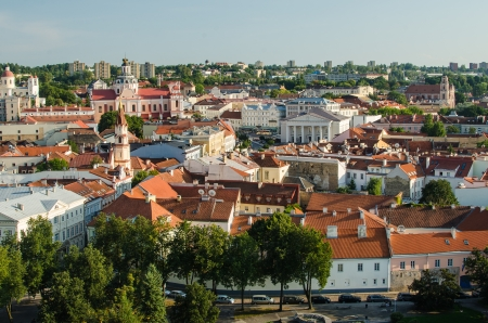 Lithuania  Vilnius Old Town in the summer photo