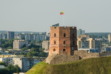Lithuania  Vilnius Upper Castle in the summer