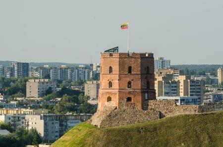 Lithuania  Vilnius Upper Castle in the summer