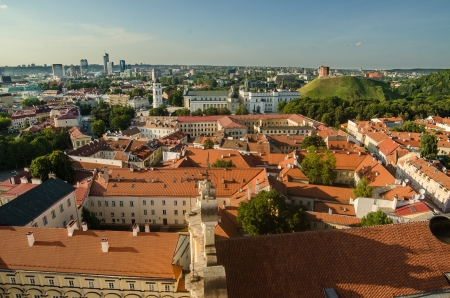Lithuania  Vilnius Old Town in the summer