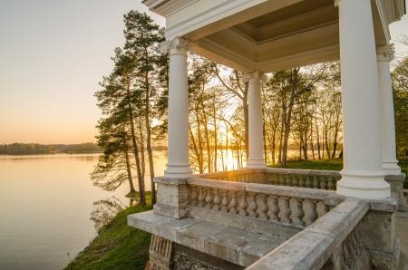 Uzutrakis Palace in Trakai, Lithuania