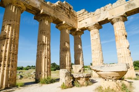 Antique columns in Selinunte, Sicily, Island, Italy