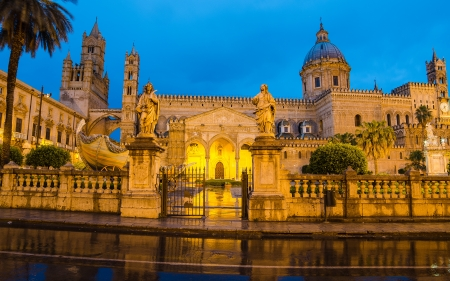 The cathedral of Palermo, Sicily, Italy photo