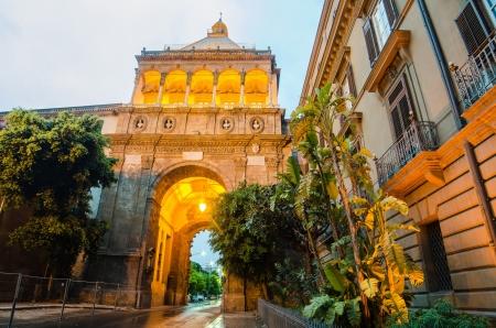 Porta Nuova � City gate in Palermo, Sicily, Italy