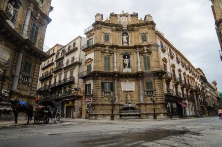 Quattro Canti in Palermo, Sicily, Italy