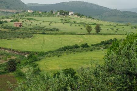 Landscape of Sicily, Italy Stock Photo