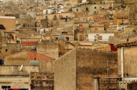 Mountain town - Caltabellotta  Sicily, Italy   Stock Photo - 21717997