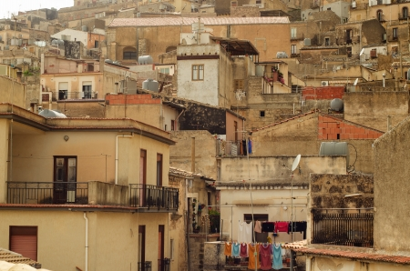 Mountain town - Caltabellotta  Sicily, Italy   Stock Photo - 21717998