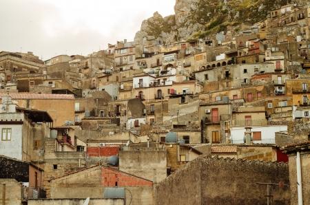 Mountain town - Caltabellotta  Sicily, Italy Stock Photo - 21717999