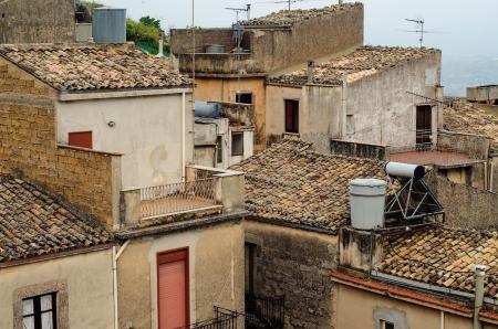 Mountain town - Caltabellotta  Sicily, Italy Stock Photo - 21718000
