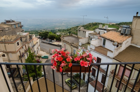 Mountain town - Caltabellotta  Sicily, Italy   Stock Photo - 21718002