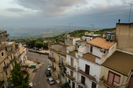 Mountain town - Caltabellotta  Sicily, Italy   Stock Photo - 21718003