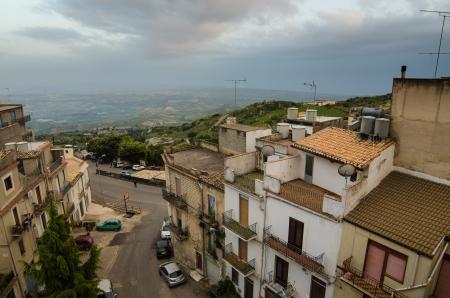 Mountain town - Caltabellotta  Sicily, Italy Stock Photo - 21718003