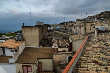 Mountain town - Caltabellotta  Sicily, Italy Stock Photo - 21718005