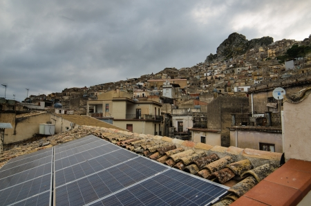 Mountain town - Caltabellotta  Sicily, Italy Stock Photo - 21718008
