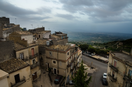 Mountain town - Caltabellotta  Sicily, Italy Stock Photo - 21718011
