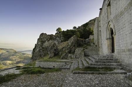 San Salvatore church in Caltabellotta  Sicily, Italy   Stock Photo