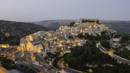 Ragusa Ibla  Sicily, Italy  in the evening Stock Photo