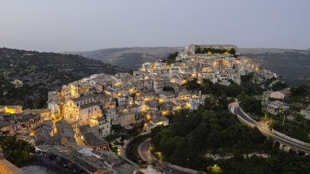 Ragusa Ibla  Sicily, Italy  in the evening Stock Photo