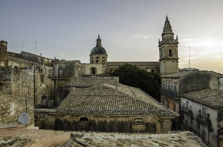 ragusa: Old town of Ragusa  Sicily, Italy  in the morning