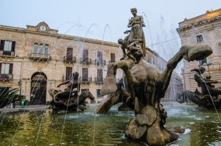 Archimede Square �Syracuse, Sicily, Italy