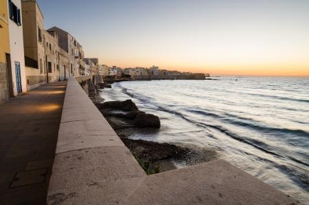 Mediterranean sea in the Trapani, Sicily, Italy