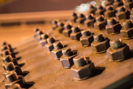 woodscrew: metal construction Stock Photo