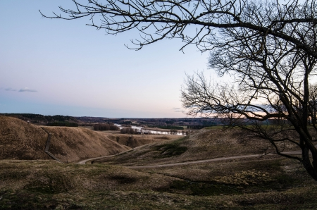 Kernave  Lithuania  in the spring Stock Photo