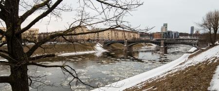 Ice-drift in Vilnius, Lithuania