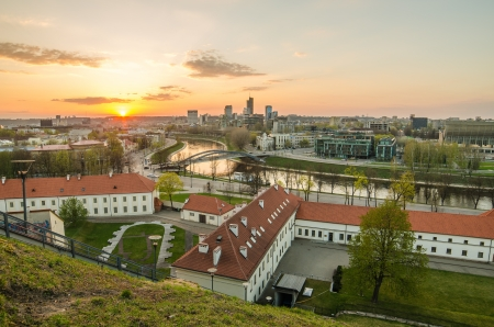 Vilnius, Lithuania in the sunset photo