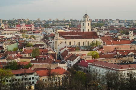 Lithuania  Vilnius Old Town in the spring