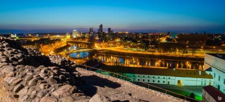 Spring evening in Vilnius