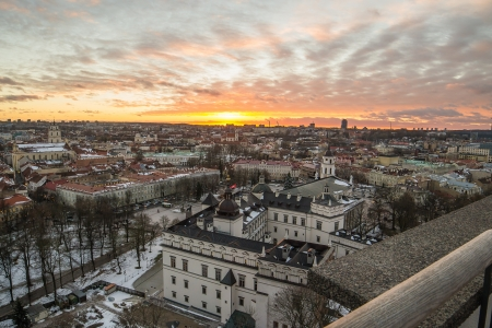 Lithuania  Sunset in Vilnius  photo