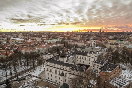 Lithuania  Winter in Vilnius Old Town