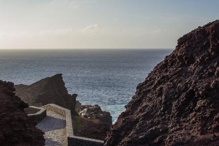 eruptive: Sea in Tenerife, Canary Island, Spain Stock Photo