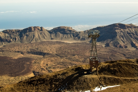raiser: The view from Teide volcano, in Tenerife, the Canary Islands, Spain Stock Photo