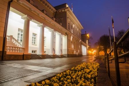 vilnius: Presidential Palace in Vilnius, Lithuania Stock Photo