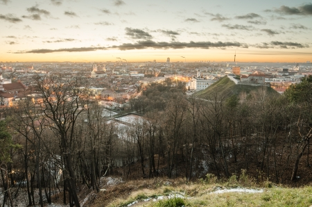 First days of winter in Vilnius, Lithuania  photo