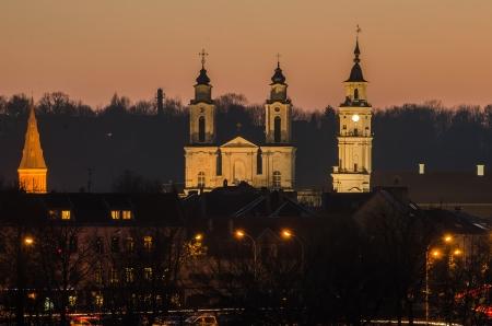 kaunas: Kaunas  Lithuania  Old Town in the evening