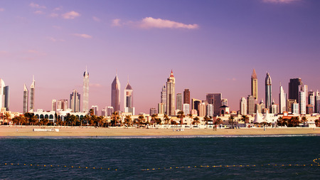 Downtown of Dubai  United Arab Emirates   The view from the Persian Gulf photo