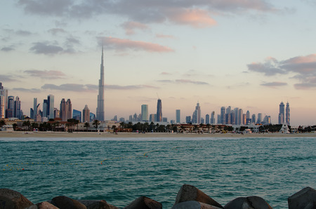 persian gulf: Downtown of Dubai  United Arab Emirates   The view from the Persian Gulf Editorial